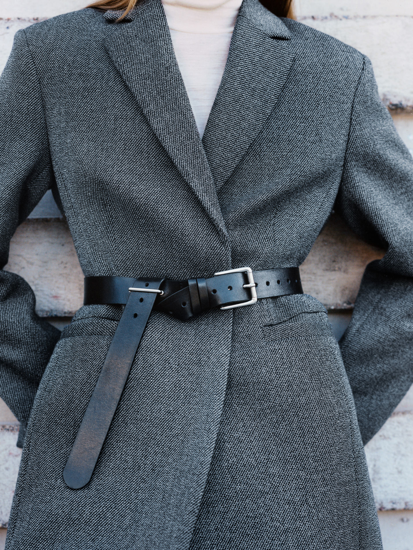 Female jacket and belt
