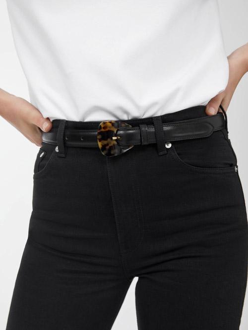White Waist Belts with Silver Long Buckle Women Dress Jeans Skirts Accessory UK